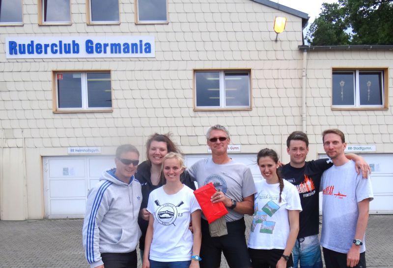 Helfercrew Ruderexkursion 2015 mit Volker Grabow